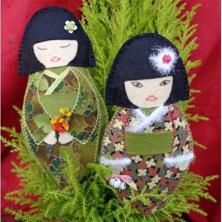 kokeshi de saisons automne et hiver